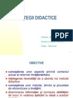A.radustrategii Didactice