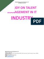 A Study on Talent Management in IT Industry [www.writekraft.com]