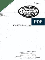 Vakyavritti and Atmajnanaopadeshavidhi of Sri Sankaracharya,