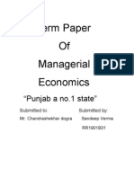 Term Paper of Why Punjab No. 1 State