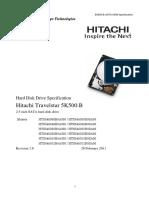 Hitachi manual--TS5K500.B OEM Specification R18