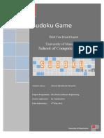 SUDUKO Project Report Final year