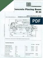 M24x4 Boom Putz Concrete Pump