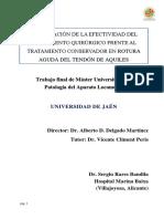 Trabajo MASTER - T. Aquiles, Sergio Bandila