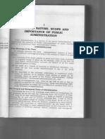 Public Administration by Sharma & Sadan (Chapter 1)