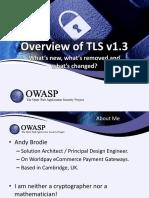 Overview of TLS v1.3