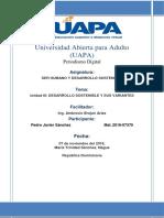 Unidad III- Desarrollo Sostenible y Sus Variantes