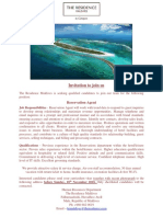 Advert - 14 Noc 2018 (Reservation Agent) - Job Maldives