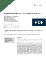 Application of BMP-2 for Bone Graft in Dentistry