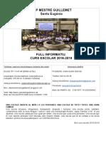 Full Informatiu Ceip Mestre Guillemet 18-19