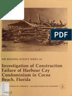 Investigate of Harbour Cay Condominium Collapse Book