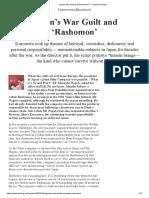 Japan's War Guilt and 'Rashomon' — Quadrant Online