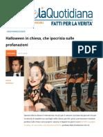 Halloween in Chiesa. Che Ipocrisia Sulle Profanazioni