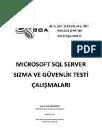 Microsoft SQL Server Sızma Ve Güvenlik Testi Çalışmaları
