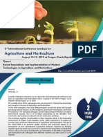 Agriculture& Horticulture Conference Brochure