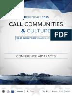 Eurocall 2016 Programme