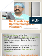 Dr. Piyush Kapur - Best Ophthalmologist/Eye Surgeon in Vikaspuri