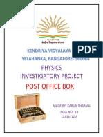 physics post office box