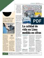 La Calidad de Vida en Lima Medida en Cifras
