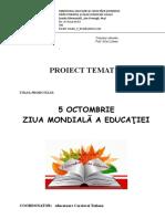 Proiect 5 OCTOMBRIE - ZIUA EDUCAȚIEI .doc