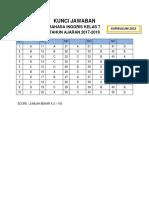 Kunci Jawaban PAS Kelas 7 2017-2018