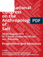First International Congress on the Anth