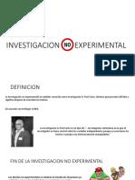 Investigacion No Experimental