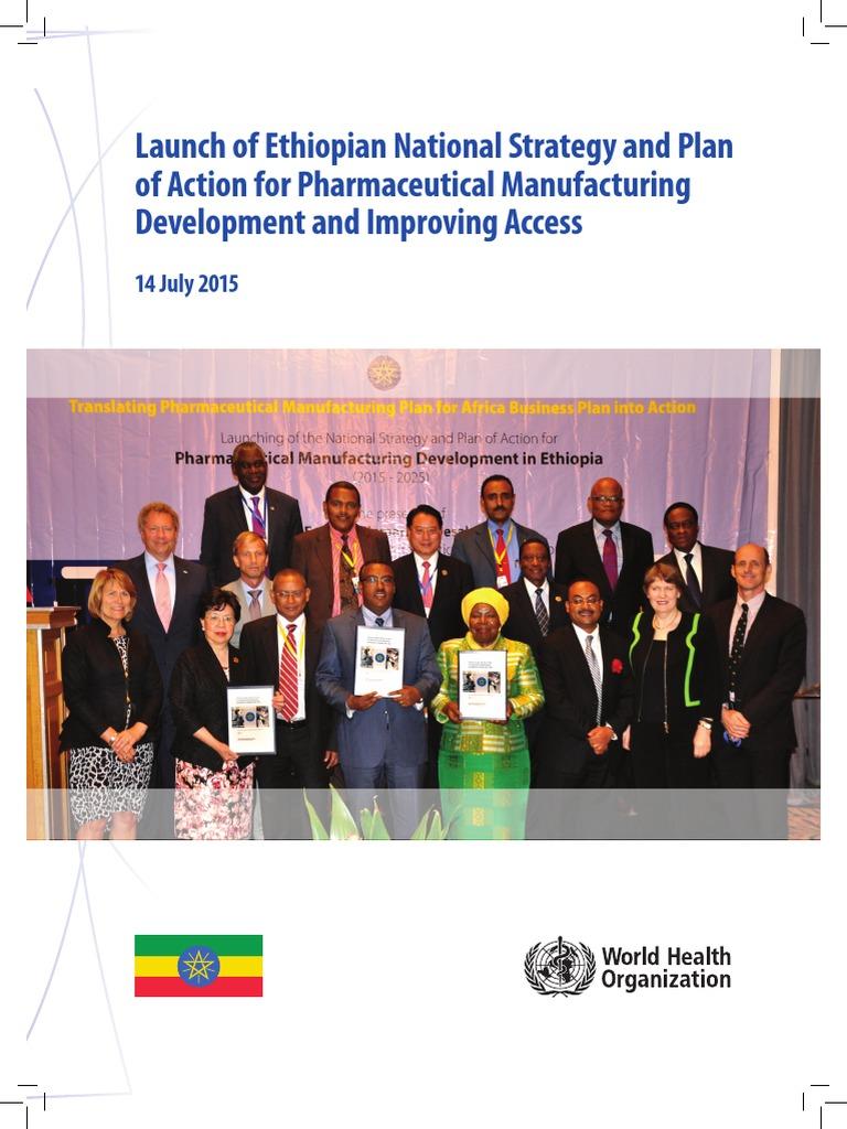 Launch Ethiopian Nsp Action p Harm Manufacturing