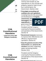 COA Constitutional Mandates