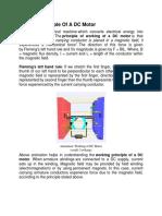 Working Principle of a DC Motor