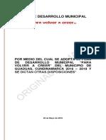 2015 0 Acuerdo Mpal 012 Pdm Guaduas PDF Original Firmado