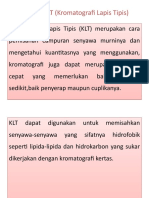 Definisi KLT (Kromatografi Lapis Tipis) & Fase Gerak