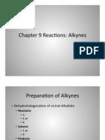Organic chemistry - Alkynes