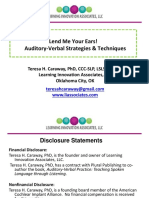 1269 Lend Me Your Ears Auditory Verbal Strategies and Techniques