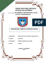 Analisis El Contrato Social