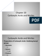 Carboxylic Acids and Nitriles Rxn