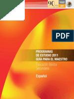Plan y Programa de Estudios SEP ESPAÑOL TELESECUNDARIA