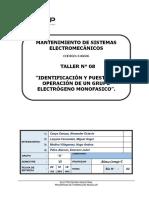 T-08 B Identificación y Puesta en Operación de Un Grupo Electrógeno Monofásico.