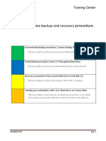 Acronis - Backup and Recovery Data Procedure
