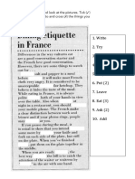 Dining Etiquette in France VING - To-Inf