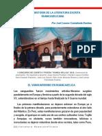 Breve Historia de La Literatura Huancavelicana Escrita