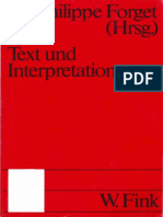 Epdf.tips Text Und Interpretation Deutsch Franzsische Debatt