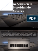 Luis Benshimol - Elena Asins en la Universidad de Navarra