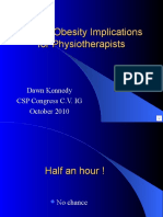 Morbid Obesity - Implications for Physiotherapists
