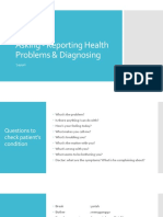 Asking - Reporting Health Problems & Diagnosing