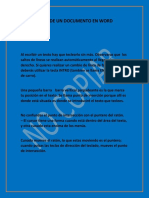 Edicion de Un Documento en Word