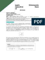 SINTESIS 7 ° III PERIODO CARGA ELECTRICA Y CORRIENTE ELECTRICA 7°
