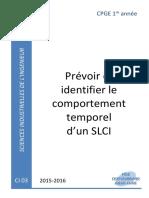 CI03 Cours - Prévoir Et Identifier Le Comportement Temporel d'Un SLCI