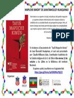 Afiche Tayiñ Mapuche Kimün Libro 12 Octubre 2018 (1)