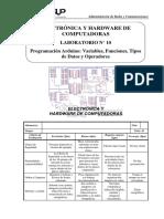 L10 - Programación Arduino - Variables, Funciones, Tipos de Datos y Operadores